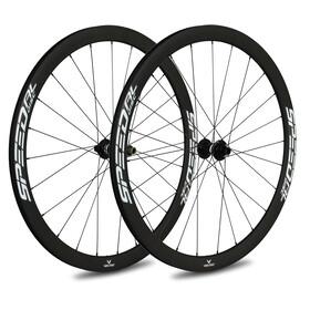 Veltec Speed AL Racefiets Wielset 40mm Schijfrem 12x100mm/12x142mm XDR, zwart